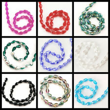 """*11x7mm Crystal Faceted Teardrop Beads 13"""" Pick your color"""