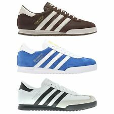 ADIDAS ORIGINALS MEN'S BECKENBAUER TRAINERS BLUE SUEDE WHITE TRAINERS SNEAKERS