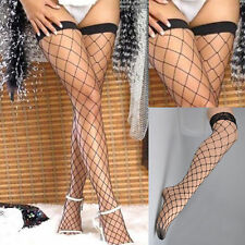 PLUS SIZE stretchY Sexy Fishnet Stockings thigh high lace tops size Thigh-Highs