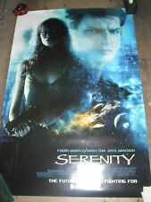 SERENITY / ORIGINAL ONE-SHEET MOVIE POSTER (NATHAN FILLION)/ FIREFLY JOSS WHEDON