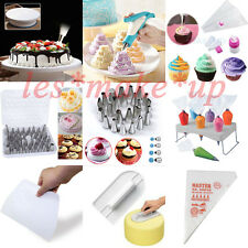 100x Icing Piping Bag Stand 24 54x Nozzle Cupcake Flower Cake Nails  Silicone *C