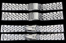 22/24MM Stainless Steel Curved End/Straight End Men's Band Watch Strap Bracelet