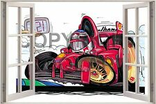 Huge 3D Koolart Window view F1 Ferrari F1 (M Schumacher) Wall Sticker Poster 229