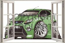 Huge 3D Koolart Window view Ford Focus Rs Wall Sticker Poster 2548