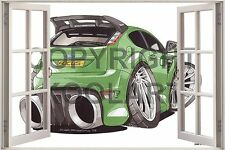 Huge 3D Koolart Window view Ford Focus Rs Wall Sticker Poster 2549