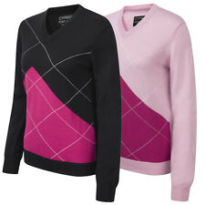 Cypress Point 2015 Ladies V Neck Golf Sweater Womens Argyle Pullover VN Jumper
