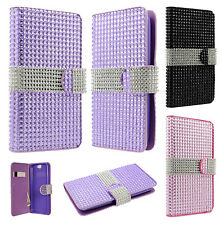 For HTC One A9 Premium Leather Bling Diamond Wallet Pouch Flip Case Cover