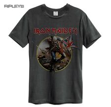 Official Amplified Unisex T Shirt Iron Maiden   TROOPER Vintage All Sizes