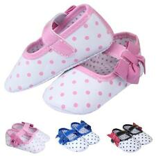 New Cute Baby Girl Soft Crib Comfortab Shoes Bow-knot Dot Warm Button Boot Shoes