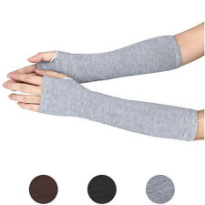 Latest Winter Wrist Arm Gloves Hand Warmer Knitted Gloves Long Fingerless Mitten
