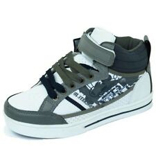 BOYS CHILDRENS KIDS FLAT LACE-UP HI-TOP SKATER TRAINERS SHOES PUMPS SIZES 13-6