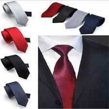 Cool Mens Classic Tie Woven Silk Suits Ties Solid Plain Necktie Party Wedding FT