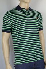 POLO Ralph Lauren Green Navy Blue White Stripe Mesh Polo Shirt NWT