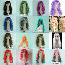 16 Colors Women Party Long Curly Wig Cosplay/Anime/Costume Full Wig Costume