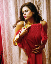 EVA MENDES SEXY POSE HOLDING RED DRESS PHOTO OR POSTER