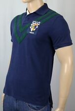 Polo Ralph Lauren Navy Blue Custom Fit Crest Shirt Rugby NWT