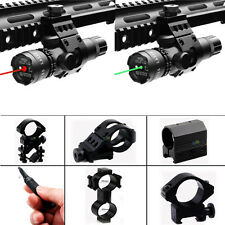 Tactical Red / Green Laser Sight & Remote for Bow Rifle Hundgun + Rail Mount