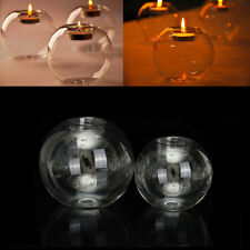 Romantic Crystal Glass Candle Candlestick Halloween Holder Christmas Party Decor