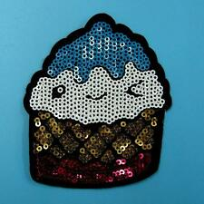 Ice Cream Cookie Candy Sew on Sequin Patch Embroidered Applique Food Cute Badge