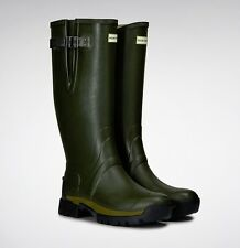 Hunter Men's Balmoral Adjustable 3mm Neoprene Wellington Boots (Dark Olive)