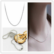 Wholesale Bulk 1/100pcs Silver Plated Rope Chain Necklace Chain 59.2cm-Quality