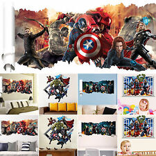 3D View Removable Kids Boys Girls Room Decor Wall Stickers Mural Art Vinyl Decal