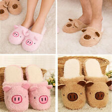 Men Women Couple Winter Pig Indoor House Slippers Anti-slip Home Warm Shoes Gift
