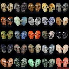 similar carved human skull skeleton statue gemstone carving crystal healing