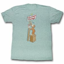 Curious George - Name Painting Men's T-Shirt - Mint Green