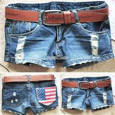 Sexy Women Low Waist Shorts Washed Hole Denim Jeans Girl Mini Hot Pants Trousers