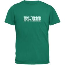 Small Enough Words Jade Green Adult T-Shirt
