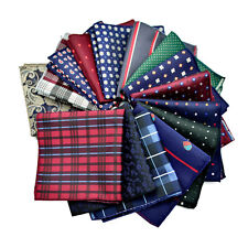 Mens Handkerchief Lot Silk Pocket Square Hanky Wedding Party Suit Hankies