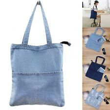 Fashion Women Denim Jean Messenger Hobo Handbag Large Shoulder Bag Lady Tote Bag
