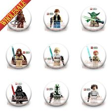 Hot Sale 45PCS Super Heroes Cartoon Buttons pins badges,30MM,Round Brooch Badges