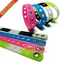 50PCS Silicone bracelets/wristbands for Charms JIBZ Croz,2Sizes 14 Colors Gifts
