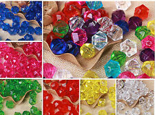 12mm 100pcs DIY Wholesale Craft Slick Crystal Faceted Abacus Loose Bicone Beads