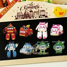 100PCS Robocar Poli Fridge Magnets,Magnetic Stick,Blackboard Stickers Kids Gifts