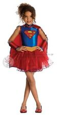 Childrens Girls Supergirl Costume for Superhero Fancy Dress