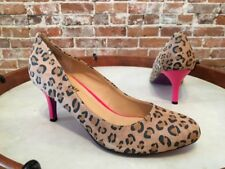 Twiggy London Leopard Suede with Pink Heel Pumps New