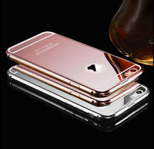 Luxury Aluminum Ultra-thin PC Mirror Back Metal Case Skin for Apple iPhone Model