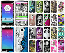 For Boost Mobile LG Tribute 2 Rubberized HARD Protector Case Cover +Screen Guard
