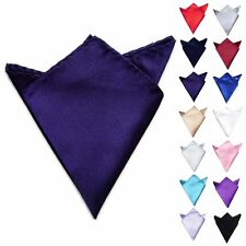 New Men Stylish Satin Silk Wedding Party Hanky Pocket Square Handkerchief Hankie