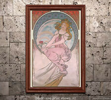 Alphonse Mucha - The Arts - Painting Poster Print [6 sizes, matte+glossy avail]