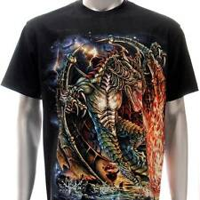 sc115 Survivor Chang T-shirt Sz M L XXL Tattoo Glow in Dark HD Print Dragon God