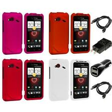 Color Hard Snap-On Skin Case 2X Chargers for HTC Droid Incredible 4G LTE