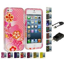 Color Design Hard Snap-On Rubberized Case Cover Accessories for iPhone 5 5G 5th