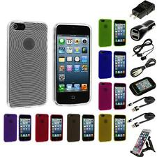 Fingerprint Circle TPU Rubber Jelly Skin Case for iPhone 5 5G 5S Accessories