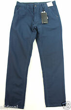 NEW CALVIN KLEIN JEANS SLIM STRAIGHT FIT FLAT FRONT ETERNAL NAVY CASUAL PANTS