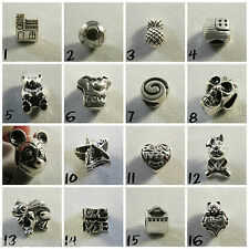 Silver Plated Charm Beads For European Charms Bracelets *Various Designs* #3