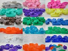 10 - 25mm Novelty Plastic Boat Pony Beads - Color Choice